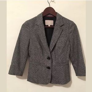 🍷Banana republic polka dots wool jacket Sz 0